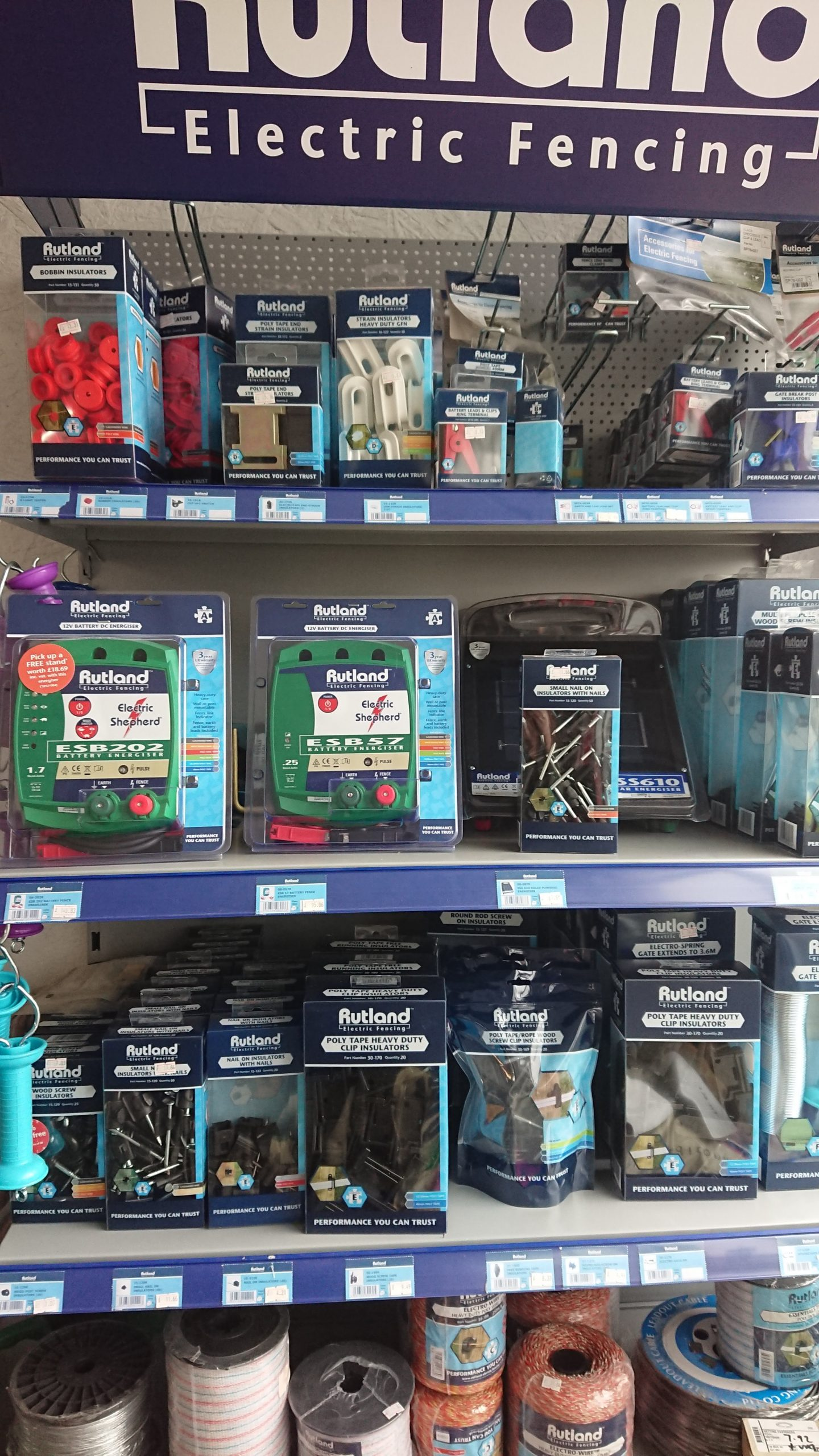 Display of Rutland Electric Fencing Products