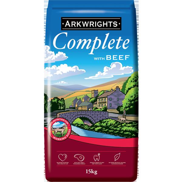 15 kilo bag of Arkwright's Complete Dog Food