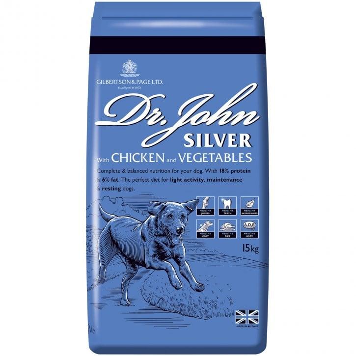 15 kilo bag of Dr John Silver Adult Working Dog Fpod